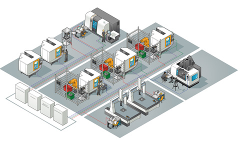Smart factory illustration